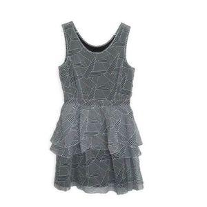 Theory Tired Silk Ruffle Striped Dress -NWOT